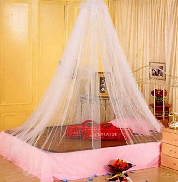 wholesale-1pcs worldwide elegant round lace insect bed canopy netting curtain dome mosquito net