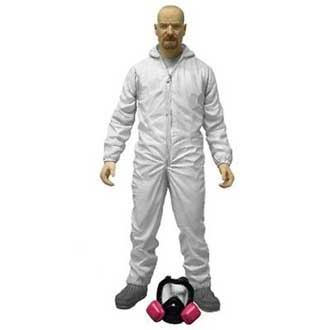 Bryan Cranston in White Overalls Figure from Breaking Bad