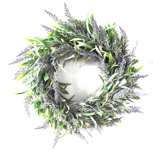 Artificial Flower Garland Silk Lavender Wreath Romantic Fresh Style Wedding Decor For Heads Take Photo Fashion Single Product Pu