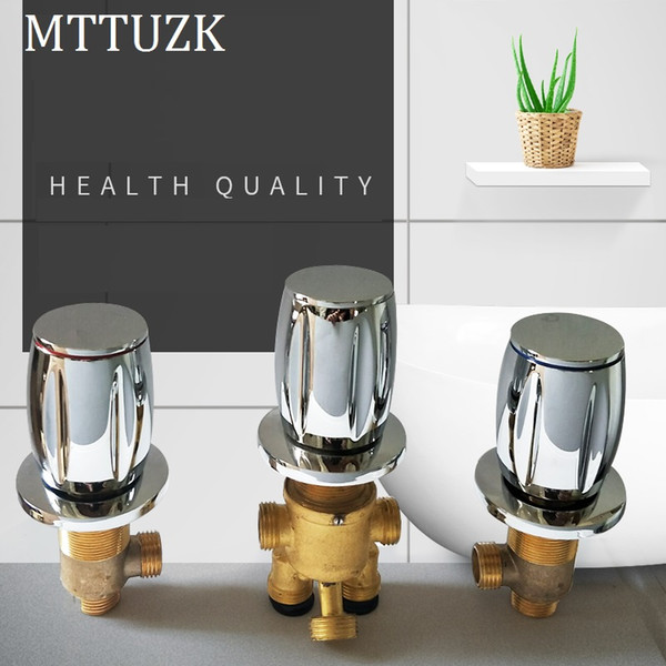 jacuzzi split type faucet 5 hole water separator 2 in 3 out function three piece set and cold water mixing valve switch