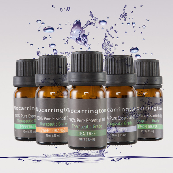 nocarrington beauty aromatherapy 6 essential oil 100% pure & therapeutic grade - basic sampler gift set & kit 3006064