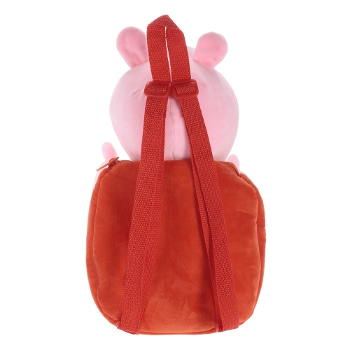 Original Brand Peppa Pig 44cm Peppa Kids Bag Backpack Stuffed Plush Toy Family Party Christmas New Year Gift