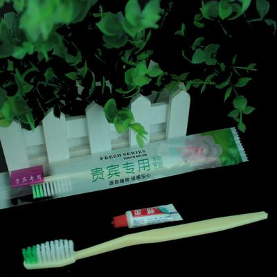 l travel toothbrush with toothpaste -middle hard brush
