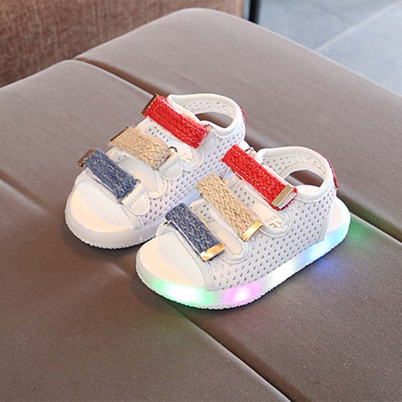 Toddler Trendy Hollow out LED Sandals