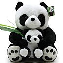 LeGou 23cm Mother and Child Panda Stuffed Toy (BlackWhite)