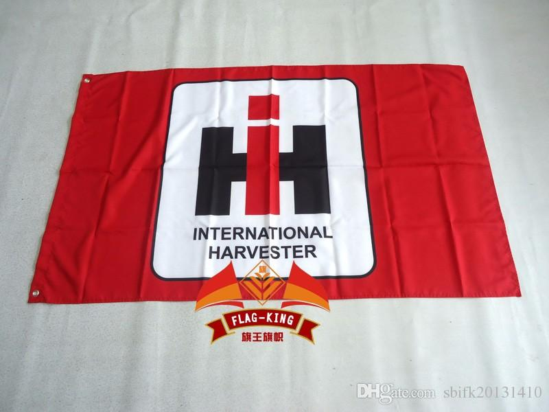 International harvester racing flag,90*150CM polyester International harvester banner