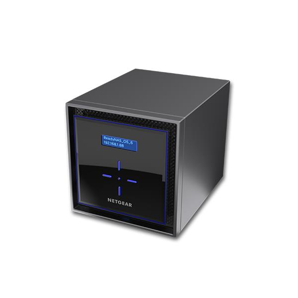 Netgear 8TB 4x2TB ReadyNAS 424 4 Bay Network Attached Storage Desktop Hard Drives
