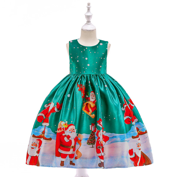 kids children formal party wear kids formal costume for performance 2019 christmas halloween costume for girls