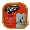 Cesar Select Dinners Chicken  Liver Dog Can Food