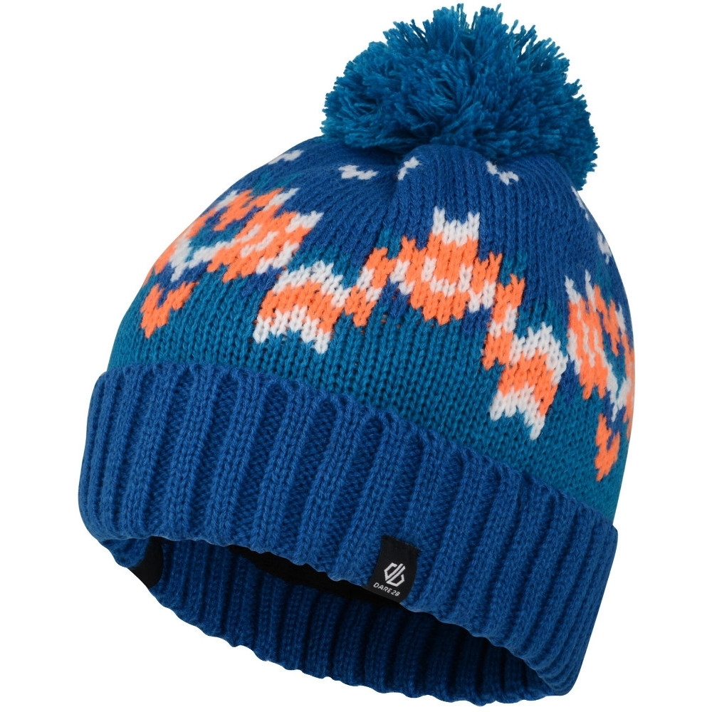 Dare 2b Boys Agitate Fleece Lined Bobble Winter Beanie Hat 11-13 Years