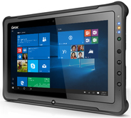 Getac F110 G4 - Tablet - Core i5 7200U / 2,5 GHz - Win 10 Pro - 8GB RAM - 128GB SSD TCG Opal Encryption 2 - 29,5 cm (11.6) IPS Touchscreen 1366 x 768 (HD) - HD Graphics 620 - 802,11ac, Bluetooth - 4G - robust (FG21ZCKI1DHX)